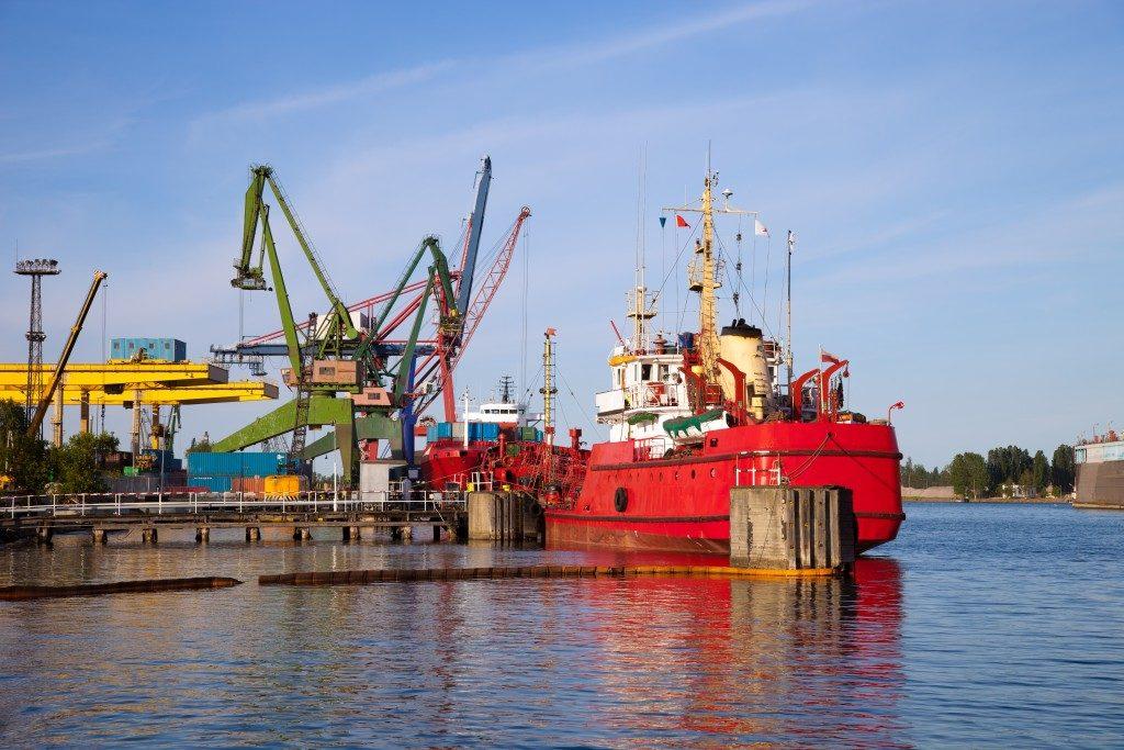 a docked ship
