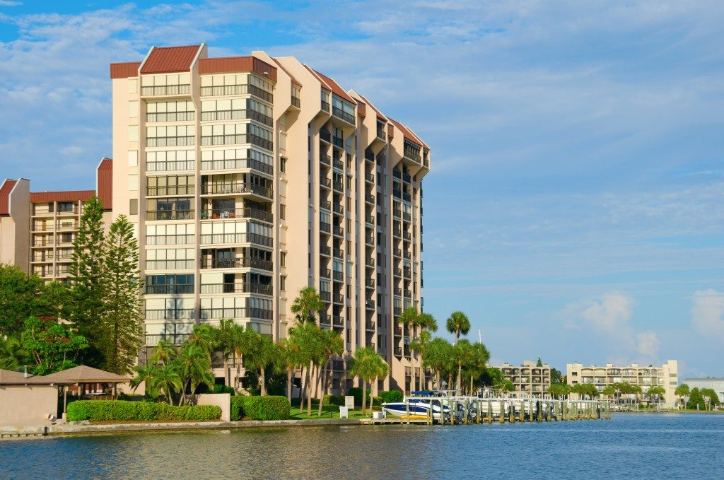 Condominium by the water side