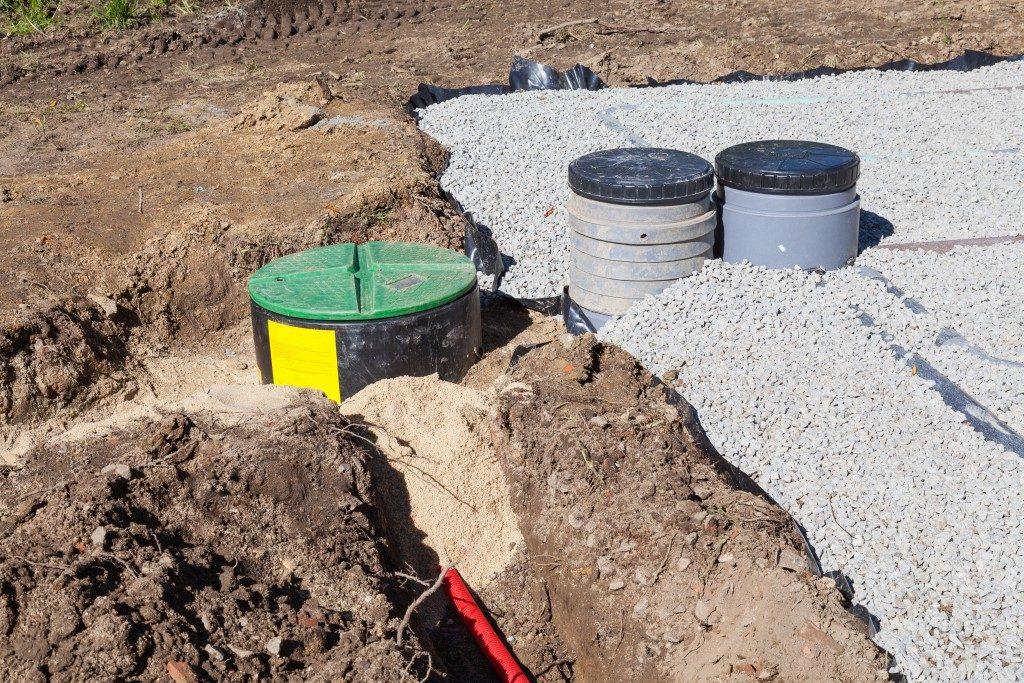 secptic tank underground