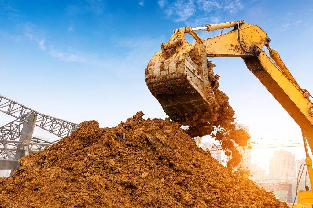 equipment moving soil