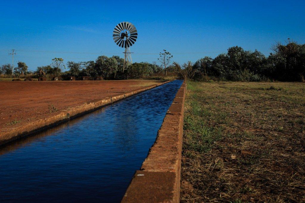 A water trough in Australia