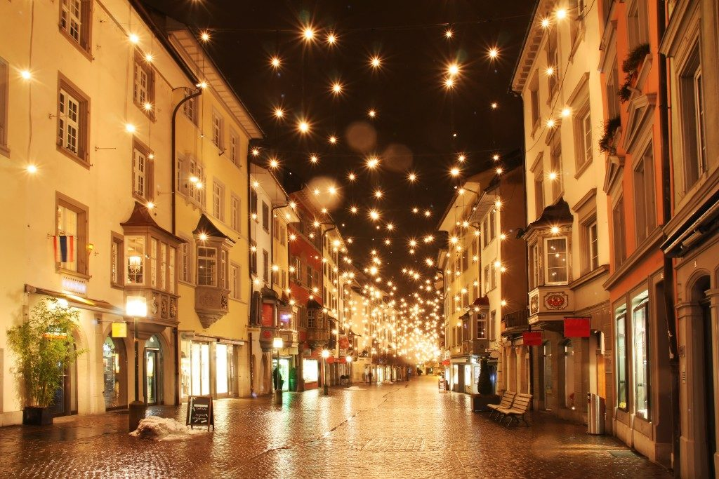 Street with lights