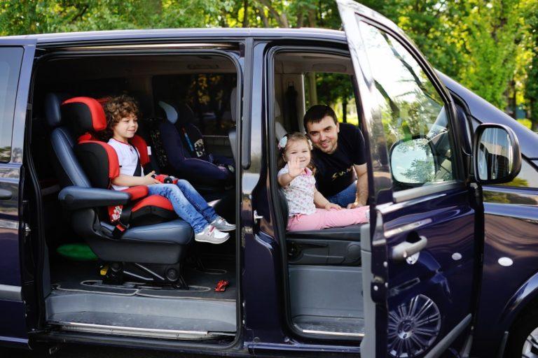 Family in a van