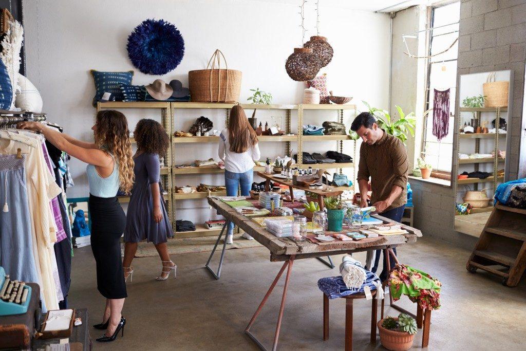customers inside a shop