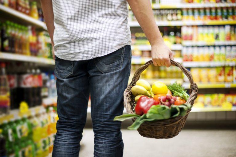 a basket of healthy food