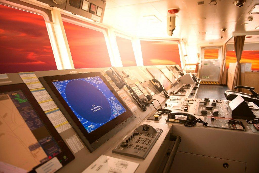 Interior of a ship