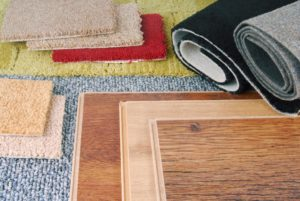 carpet and wood flooring