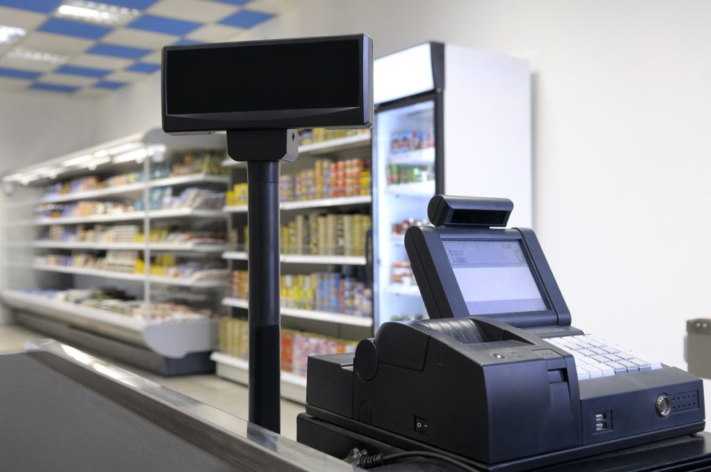 Cashier in convenience store