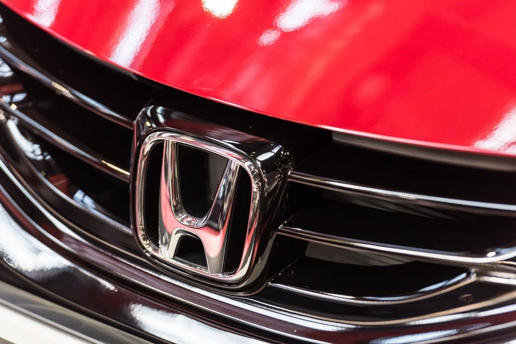 car bumper honda logo
