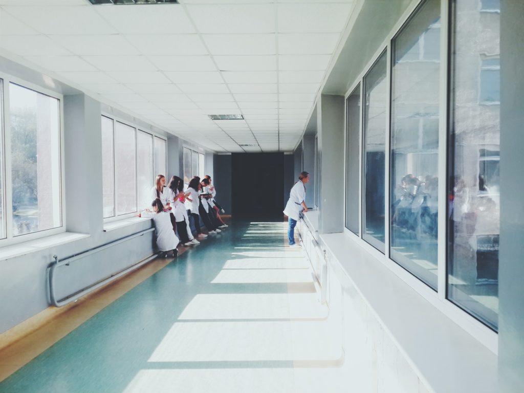 healthcare hallway