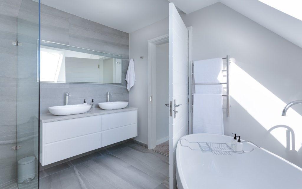 a well-lit bathroom