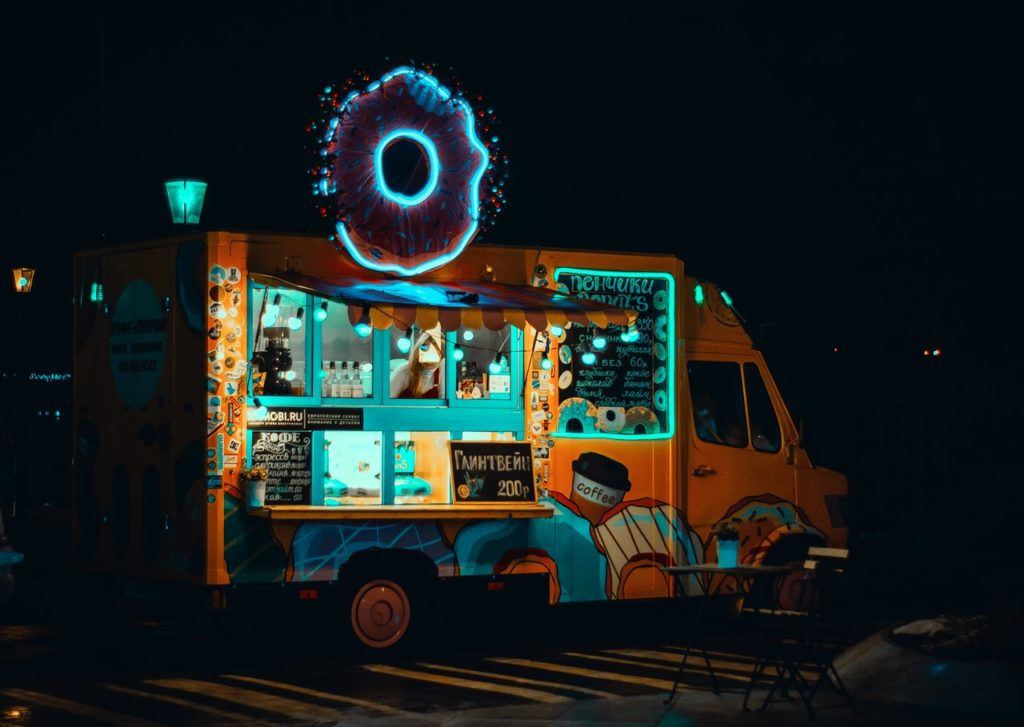 food truck coffee and donuts