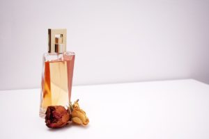 perfume with plant