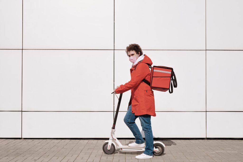 man delivering goods