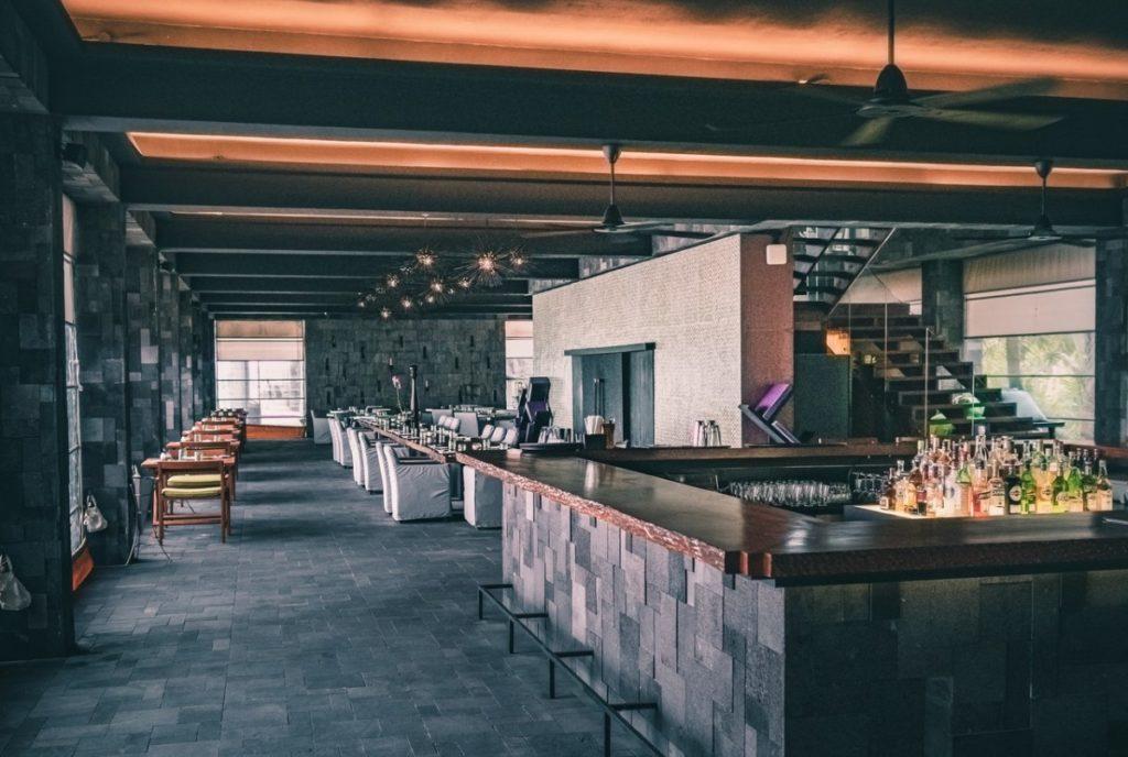 bar with a loft
