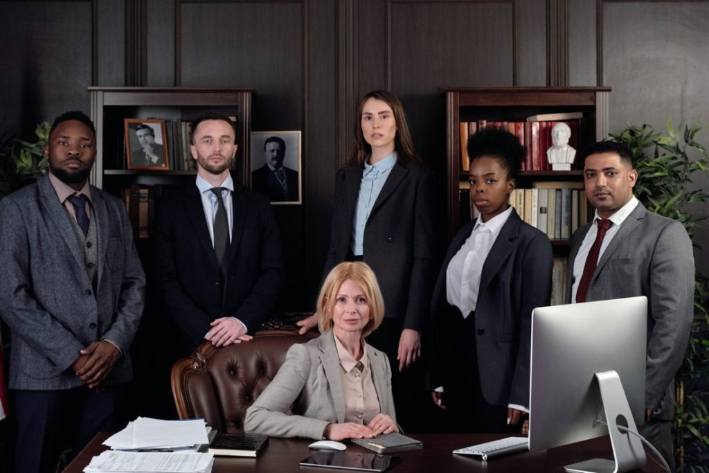 group of lawyers