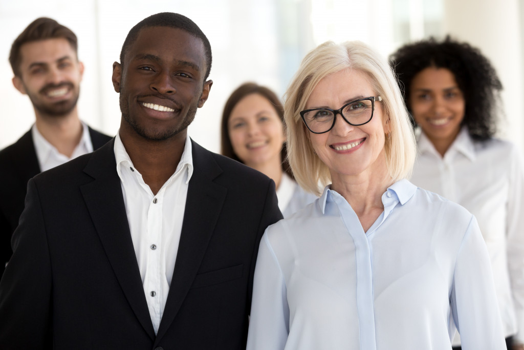 diverse business leaders