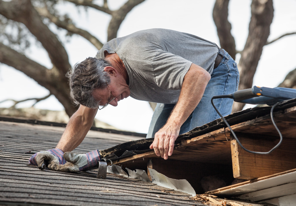 checking and replacing roof